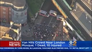 Van Hits Crowd Near London Mosque
