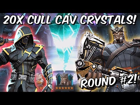 20x 6 Star Cull Obsidian Cavalier Featured Crystal Opening #2! - Marvel Contest of Champions