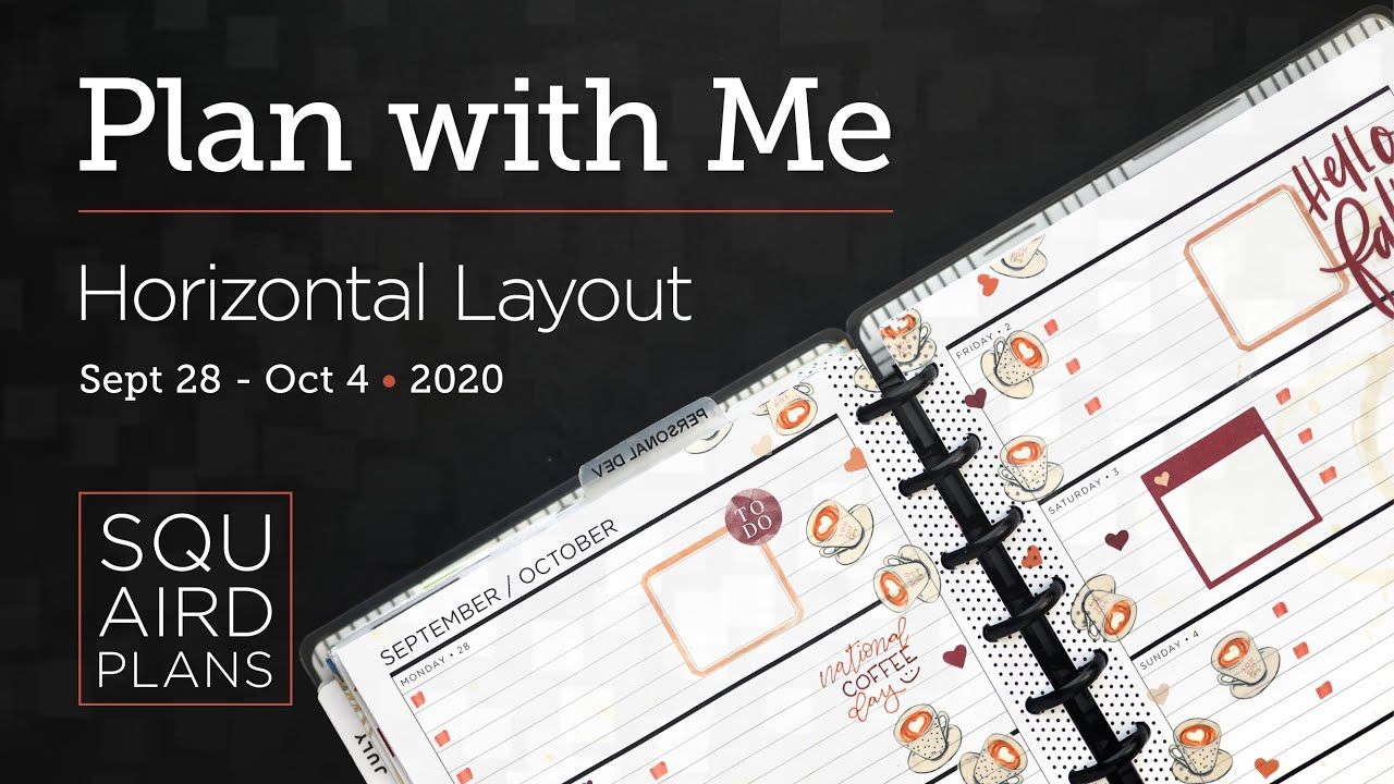 Plan with Me :: Pumpkin Spice :: Squaird Plans Horizontal Layout :: Classic Happy Planner :: 2020