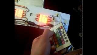 Светодиодная люстра с RGB контроллером на пульте / RGB LED CONTROLLER(Светодиодная люстра с RGB контроллером с 12 В блоком питания Сори, что видео без коментариев) Собирал сам!..., 2014-04-03T20:54:27.000Z)