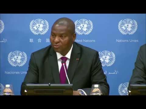 Le Président de la Centrafrique aux Nations-Unies