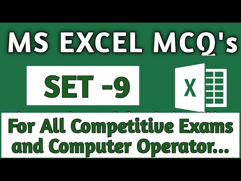 MS Excel Mcq Questions   Computer Operator Question Paper   Computer Operator Questions And Answers