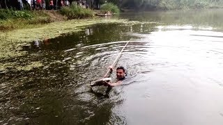 Fish Hunting : Imagining crazy natural fishing moment in our village
