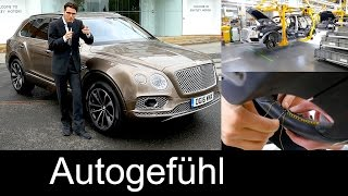 Bentley Crewe assembly plant factory production tour with Bentayga & handcraft