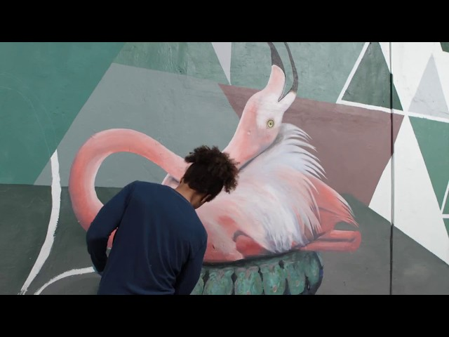 The Color Dreamers Mural Time Lapse - Wynwood Smoke Shop and Lounge