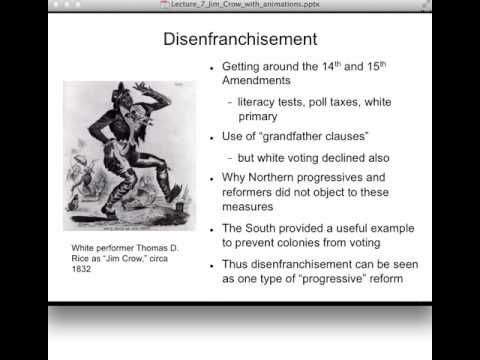 Lecture 7 Jim Crow