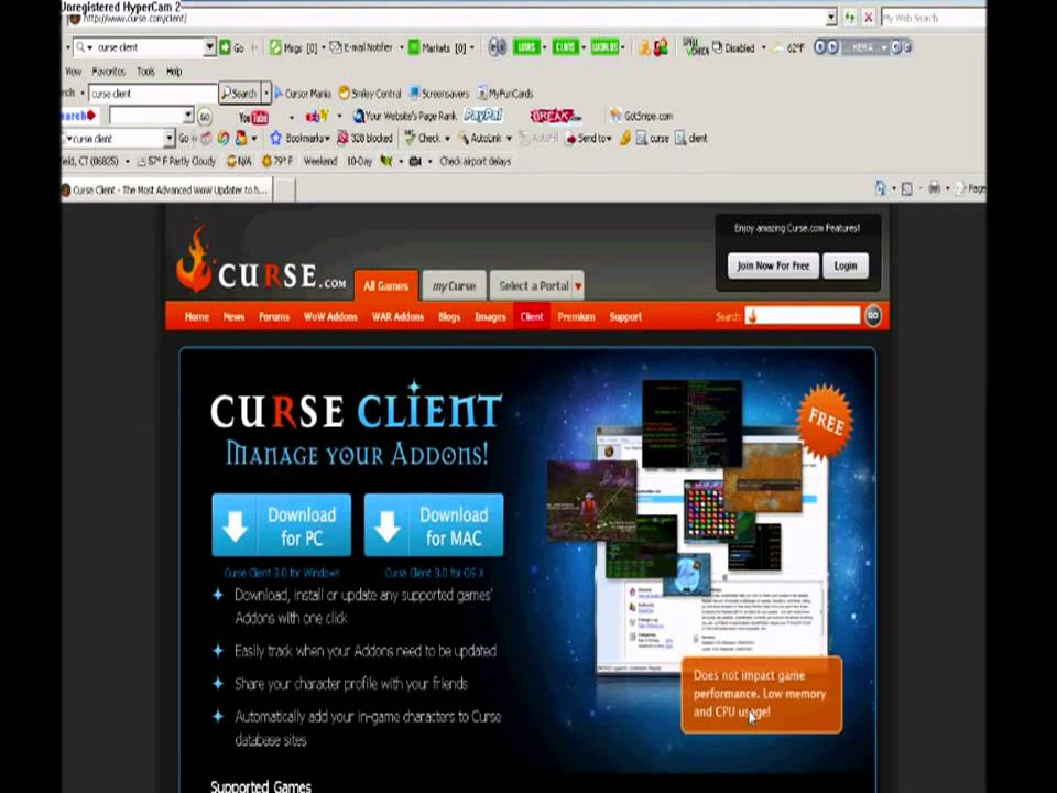 Curse client 7. 5. 6744. 42746 download for pc free.