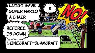 MineCraft ~ SlamCraft ~11~ WWE 2K Universe Mode Super Mario vs Sonic the Hedgehog!!!