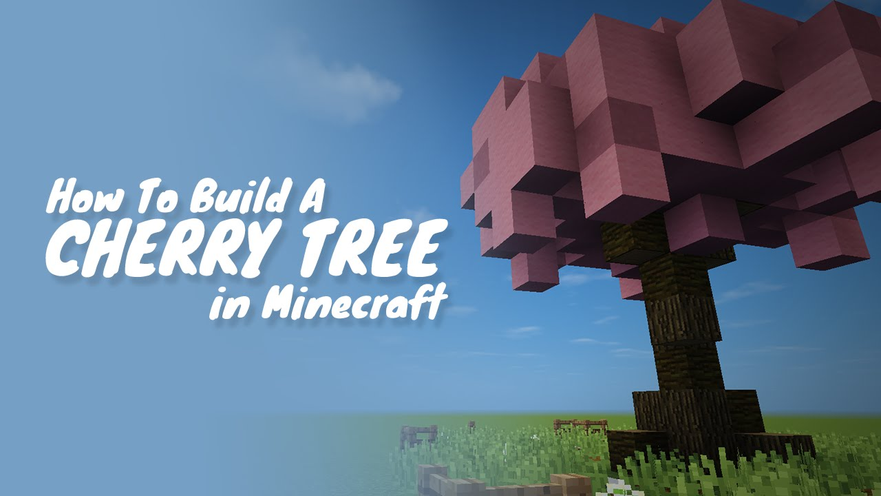 how to build a cherry tree in minecraft youtube - Minecraft Japanese Tree