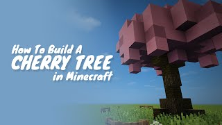 How To Build A Cherry Tree In Minecraft