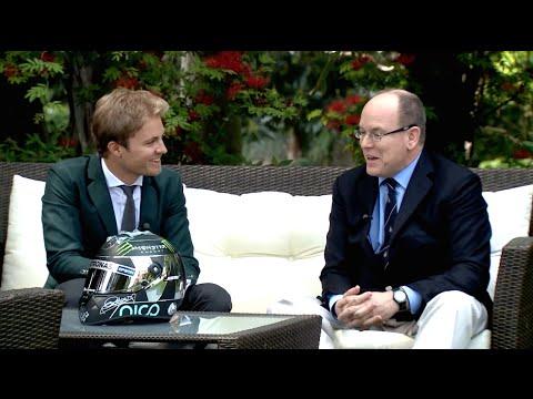 Nico Rosberg: English Interview with Prince Albert