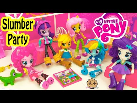 My Little Pony Equestria Girls Minis Dolls MLP Slumber Party - Cookieswirlc Toy Video