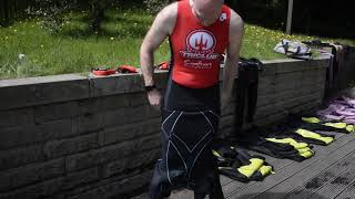 How to put on a wetsuit