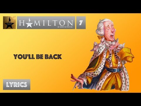 #7 Hamilton - You'll Be Back [[VIDEO LYRICS]]