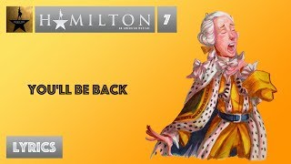 7 hamilton youll be back video lyrics