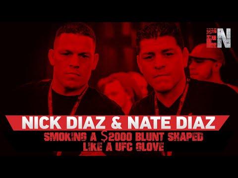 Nick Diaz & Nate Diaz Smoking A $2000 Blunt Shaped Like a UFC GLOVE Es Boxing