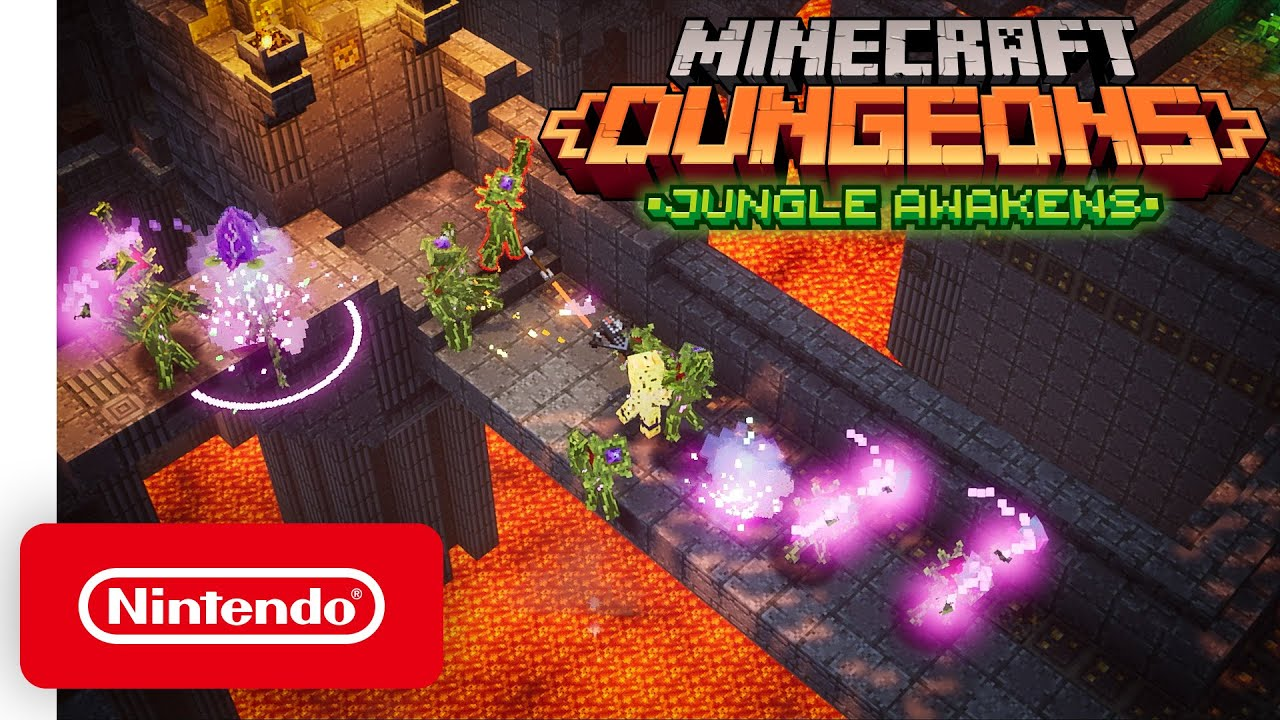 Minecraft Dungeons: Jungle Awakens - DLC Launch Trailer - Nintendo Switch - Nintendo thumbnail