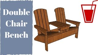 FULL PLANS at: http://howtospecialist.com/outdoor-furniture/double-adirondack-chair-with-table-plans/ ▻ SUBSCRIBE for a new