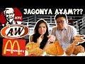 KFC vs A&W vs Mcdonald's FRIED CHICKEN TEST !!!