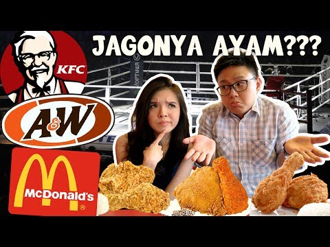 KFC Vs A&W Vs Mcdonald's FRIED CHICKEN TEST !!!