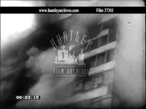 Riots in Berlin, 1950's.   Archive film 37301