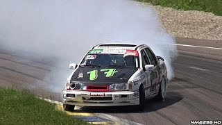 500+HP Turbo Ford Sierra Cosworth Tearing Up the Track!