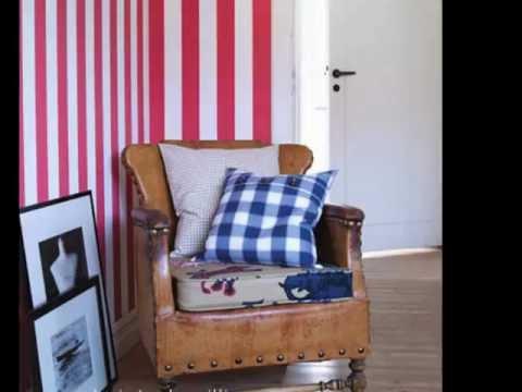 Papel pintado rayas youtube for Papel pintado rayas verticales catalogo