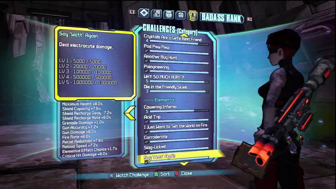 Borderlands 2 challenge accepted trophy / achievement guide youtube.