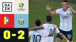 Giovani Lo Celso lässt Lionel Messi jubeln: Venezuela - Argentinien 0:2   Copa America   DAZN