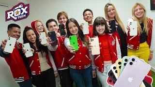 O PATROCINADOR DEU 10 IPHONES PARA OS ARTISTAS DA ROX TEEN DE GRAÇA !!! (SURPRESA INACREDITÁVEL)