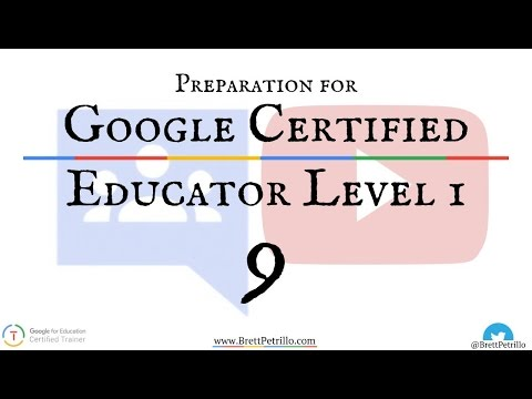 Google Certified Educator Prep Session 9: Groups & YouTube