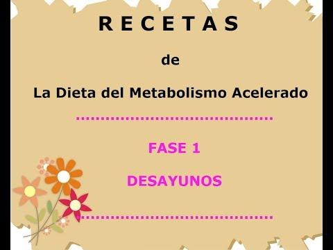 Dieta semanal para acelerar el metabolismo