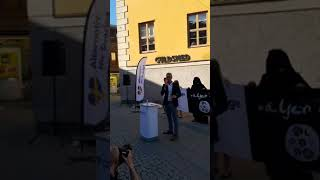 Alternativ för Sveriges torgmöte i Uppsala (Livesändning - Del 1)