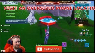 FORTNITE VISIT AN OVERSIZED PHONE LOCATION SEASON 9 WEEK 2 CHALLENGE BATTLE PASS