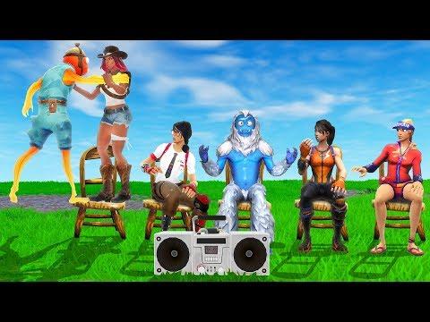 Fortnite MUSICAL CHAIRS Custom Mini-Game! (Fortnite Creative)