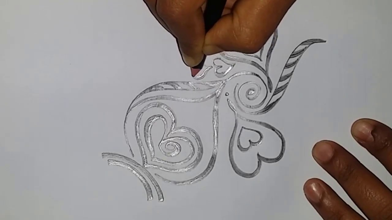 Line Drawing Heart Shape : How to draw heart shape love or amazing drawing