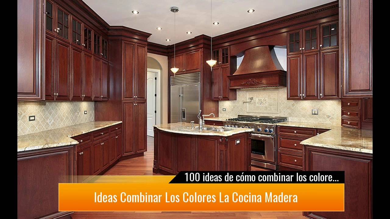 100 ideas de c mo combinar los colores de la cocina youtube - Decorar paredes facil ...