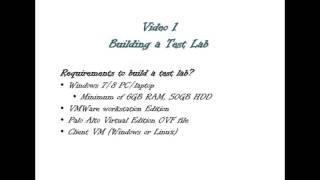 Palo Alto Firewalls, Building a Test Bed Lab for Palo Alto Firewalls using VMWare