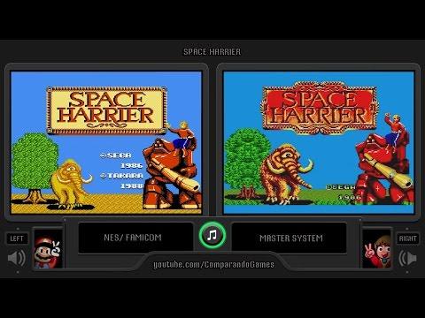 Space Harrier (NES vs Master System) Side by Side Comparison (Famicom vs Sega Mark III)