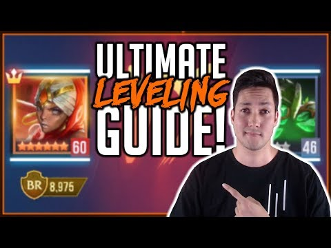 ULTIMATE GUIDE: FASTEST WAY TO LEVEL CHAMPIONS   Dungeon Hunter Champions