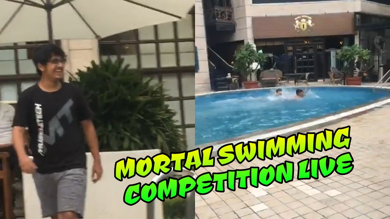 Mortal live Swimming competition with Scout, Mortal instagram live with Soul,TeamInd,IT,full masti