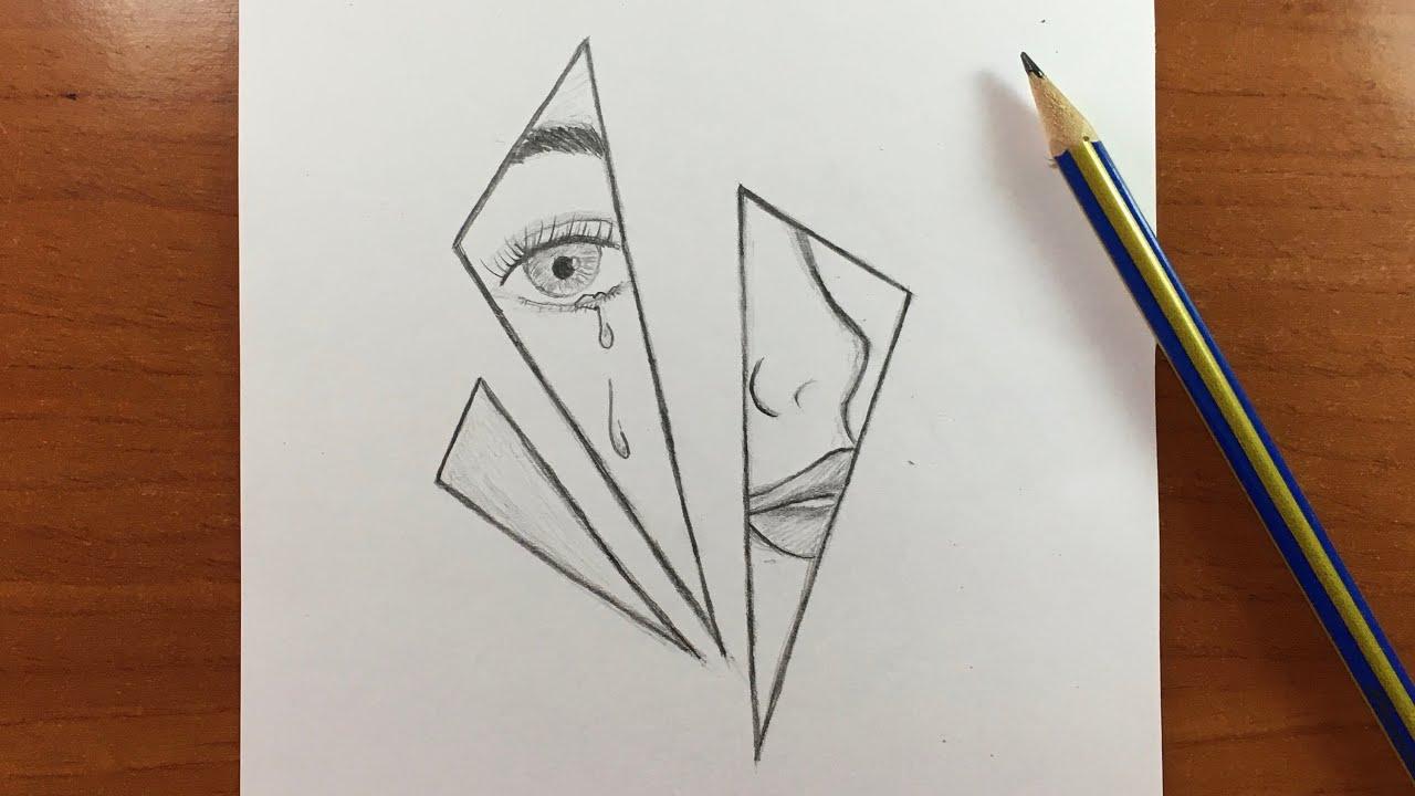 للمبتدئين رسم بالرصاص حزين جدا