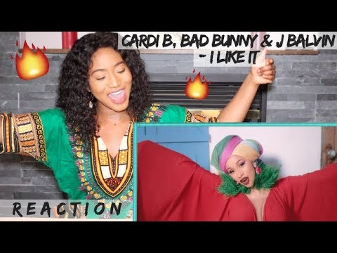 Cardi B Bad Bunny & J Balvin - I Like It     REACTION
