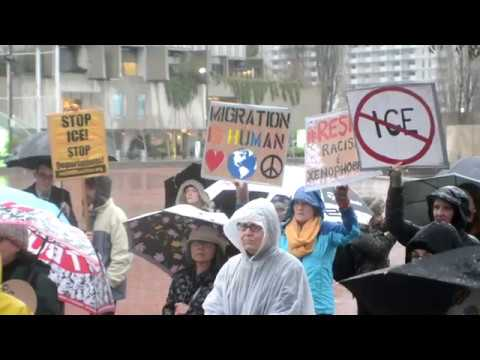 San Francisco protest against Trump immigration/travel policies Feb. 17, 2017