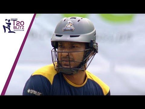 Sangakkara Blasts a Six Over Tin Kwong Road   Hong Kong T20 Blitz 2018