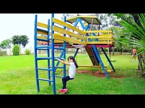 TOUR E ROTINA DE DIVERSÃO NO HOTEL FAZENDINHA!!! ★ Animais, Pomar, Piscina e Playground Super Legal