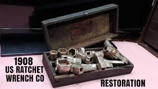 111 YEAR OLD RATCHET SET RESTORATION. 1908 US RATCHET COMPANY