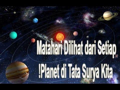 Matahari Dilihat dari Setiap Planet di Tata Surya Kita!
