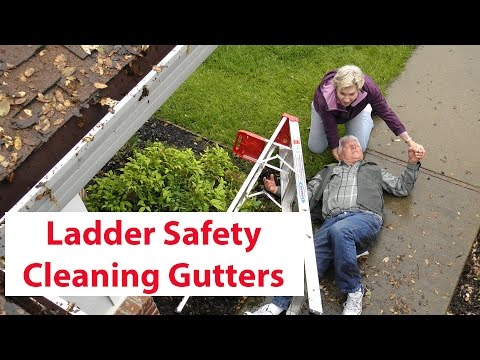 cleaning gutter safety tips