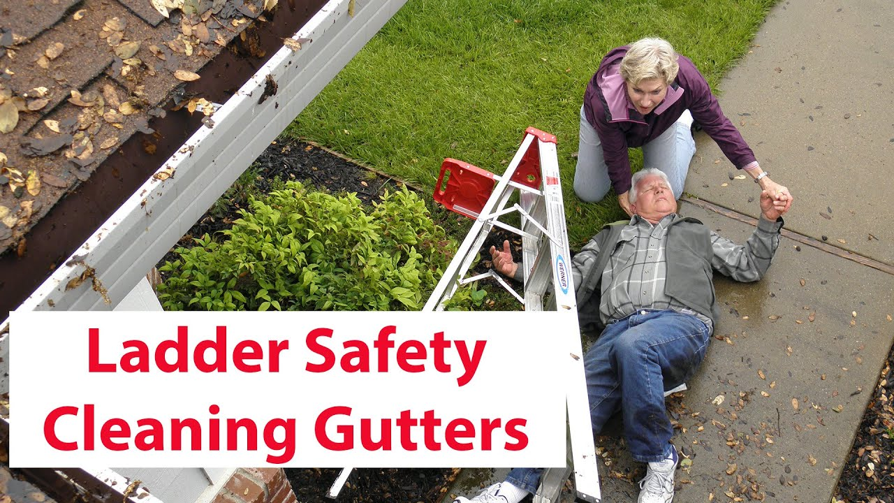 Ladder safety cleaning gutters youtube ladder safety cleaning gutters solutioingenieria Images